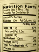 High fat content food label — Stock Photo