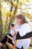 Woman enjoying red wine — Stock Photo