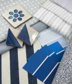 Blue interior decoration plan — Stock Photo