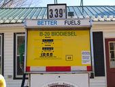 バイオディーゼル、バイオディーゼル燃料ポンプ — ストック写真