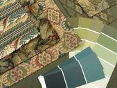 Blueish yeşil iç dekorasyon planı — Stok fotoğraf