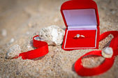 Propose at the beach — Stock Photo