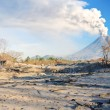 View of volcano eruption — Stockfoto