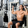 Stock Photo: Gym training