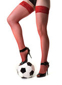Menina e bola — Fotografia Stock