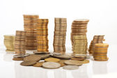 Large number of coins — Stock Photo