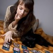 Girl who read the cards — Stock Photo