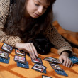 Girl who read the cards - Stockfoto