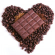 Stock Photo: Chocolate, which lies at heart of coffee beans