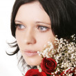 Royalty-Free Stock Photo: Beautiful brunette girl with a rose