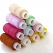 Colorful spools threads — Stock Photo
