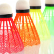 Colorful shuttlecocks for badminton — Zdjęcie stockowe