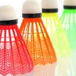 Colorful shuttlecocks for badminton — Stock Photo #7488998