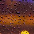 Drops and bokeh — Stock Photo