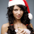 Santa girl — Stock Photo #7489333