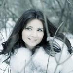 Girl in winter city — Stock Photo #7489468
