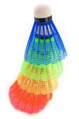 Colorful shuttlecocks for badminton — Stock fotografie