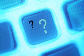 Abstract image of a computer key question — Stock Photo