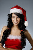 Santa girl — Stock Photo