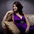 Stok fotoğraf: Glamorous girl on couch