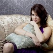 Glamorous girl on the couch — Stock Photo #7532372