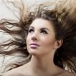 Glamorous girl with long hair — Stock Photo
