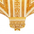 Gold pattern, the border in a white background — Stock Photo