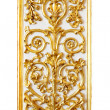 Стоковое фото: Gold pattern, border in white background