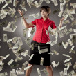 Girl who has lot of money — Stock Photo #7533295
