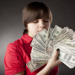 Stock Photo: Girl who has a lot of money