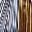 Luxurious silver and gold fabric — Stockfoto