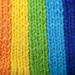 Bright rainbow knitted scarf — Foto de Stock