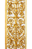 Modello oro, il confine in uno sfondo bianco — Foto Stock