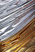 Luxurious silver and gold fabric — Stock Photo