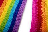 Cachecol de malha arco-íris brilhante — Fotografia Stock