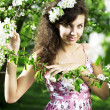 Beautiful girl was blossoming garden — Stock Photo #7615686