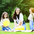 Family in park — Stockfoto