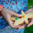 Woman with cookies man — Stock Photo #7616491