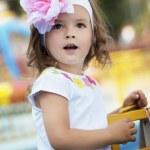 Beautiful baby girl surprised — Stock Photo #7616852