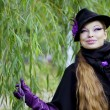 Стоковое фото: Beautiful girl in the autumn park