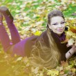 Beautiful girl in the autumn park — Stock Photo #7617662