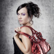 Stock Photo: Luxury womwith bag