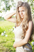 Beautiful girl with long hair — Stock Photo