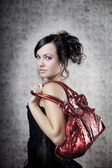 Luxury woman with bag — Stock Photo