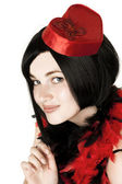 Beautiful girl in fancy dress — Stock Photo
