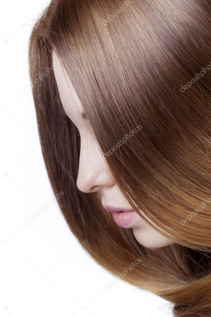 The image of a girl with beautiful hair — Stock Photo #7615922