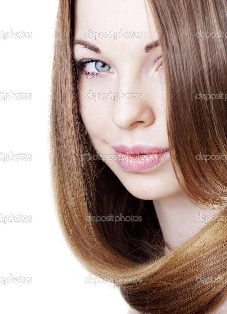 The image of a girl with beautiful hair — Stock Photo #7615930
