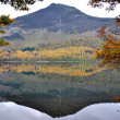 Reflection of a Mountain in a Water in District Cumbria - Stock Photo