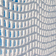 Frozen Mesh Fence — Stock Photo