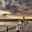 HDR Path to the Lighthouse with Cloudy Sky — Stock Photo